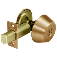 28-486-10 Sargent 480 Series Single Cylinder Auxiliary Deadbolt Lock with Blank Plate in Satin Bronze
