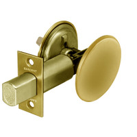 28-489-03 Sargent 480 Series Thumbturn Auxiliary Deadbolt Lock with Blank Plate in Bright Brass