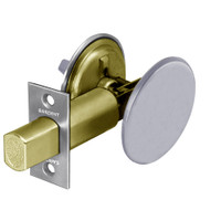 28-489-26 Sargent 480 Series Thumbturn Auxiliary Deadbolt Lock with Blank Plate in Bright Chrome