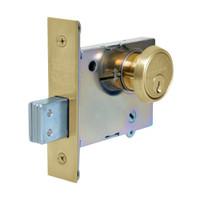 4876-04 Sargent 4870 Series Single Cylinder Mortise Deadlock in Satin Brass