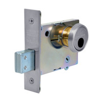 LC-4875-26D Sargent 4870 Series Single Cylinder Mortise Deadlock with Turn Lever Less Cylinder in Satin Chrome