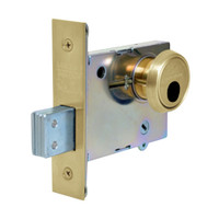 LC-4875-04 Sargent 4870 Series Single Cylinder Mortise Deadlock with Turn Lever Less Cylinder in Satin Brass