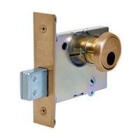 LC-4875-10 Sargent 4870 Series Single Cylinder Mortise Deadlock with Turn Lever Less Cylinder in Satin Bronze