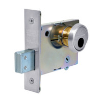LC-4875-26 Sargent 4870 Series Single Cylinder Mortise Deadlock with Turn Lever Less Cylinder in Bright Chrome
