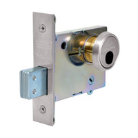LC-4875-32 Sargent 4870 Series Single Cylinder Mortise Deadlock with Turn Lever Less Cylinder in Bright Stainless Steel