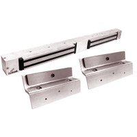2268-TJ20-US28-ATS DynaLock 2268 Series Double Classic Low Profile Electromagnetic Lock for Inswing Door with ATS in Satin Aluminum