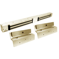 2268-TJ20-US4-ATS DynaLock 2268 Series Double Classic Low Profile Electromagnetic Lock for Inswing Door with ATS in Satin Brass