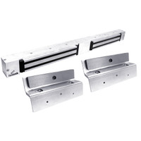 2268-TJ20-US26-DSM2 DynaLock 2268 Series Double Classic Low Profile Electromagnetic Lock for Inswing Door with DSM in Bright Chrome