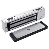3000TJ30-US26-HSM DynaLock 3000 Series 1500 LBs Single Electromagnetic Lock for Inswing Door with HSM in Bright Chrome