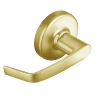 CL3110-NZD-605 Corbin CL3100 Series Vandal Resistant Passage Cylindrical Locksets with Newport Lever in Bright Brass Finish