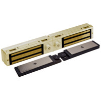 3121C-DSM2-DYN2-US3 DynaLock 3101C Series Delay Egress Electromagnetic Lock for Double Outswing Door with DSM and DYN in Bright Brass