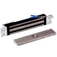 2600-MB-US28 DynaLock 2600 Series 650 LBs Single Mortise Mini Electromagnetic Lock with Mounting Brackets in Satin Aluminum