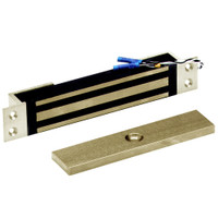 2600-MB-US4 DynaLock 2600 Series 650 LBs Single Mortise Mini Electromagnetic Lock with Mounting Brackets in Satin Brass
