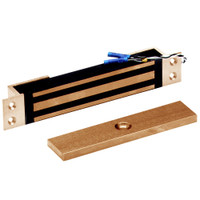 2600-MB-US10 DynaLock 2600 Series 650 LBs Single Mortise Mini Electromagnetic Lock with Mounting Brackets in Satin Bronze