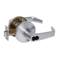 9K37AB15DS3626 Best 9K Series Entrance Cylindrical Lever Locks with Contour Angle with Return Lever Design Accept 7 Pin Best Core in Satin Chrome