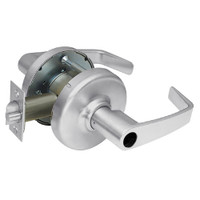 CL3351-NZD-626-LC Corbin CL3300 Series Less Cylinder Extra Heavy Duty Entrance Cylindrical Locksets with Newport Lever in Satin Chrome Finish