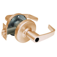 CL3357-NZD-612-LC Corbin CL3300 Series Less Cylinder Extra Heavy Duty Storeroom Cylindrical Locksets with Newport Lever in Satin Bronze Finish