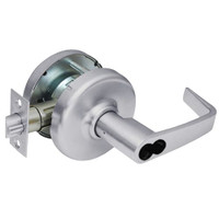 CL3581-NZD-626-CL7 Corbin CL3500 Series IC 7-Pin Less Core Heavy Duty Keyed with Blank Plate Cylindrical Locksets with Newport Lever in Satin Chrome Finish