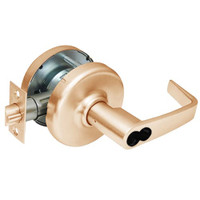 CL3581-NZD-612-CL7 Corbin CL3500 Series IC 7-Pin Less Core Heavy Duty Keyed with Blank Plate Cylindrical Locksets with Newport Lever in Satin Bronze Finish