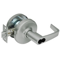 CL3581-NZD-619-CL7 Corbin CL3500 Series IC 7-Pin Less Core Heavy Duty Keyed with Blank Plate Cylindrical Locksets with Newport Lever in Satin Nickel Plated Finish
