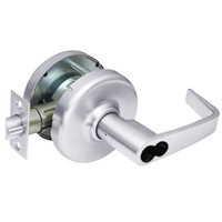 CL3581-NZD-625-CL7 Corbin CL3500 Series IC 7-Pin Less Core Heavy Duty Keyed with Blank Plate Cylindrical Locksets with Newport Lever in Bright Chrome Finish