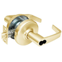 CL3582-NZD-605-CL7 Corbin CL3500 Series IC 7-Pin Less Core Heavy Duty Store Door Cylindrical Locksets with Newport Lever in Bright Brass Finish
