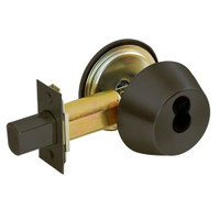 DL2213-613-CL6 Corbin DL2200 Series IC 6-Pin Less Core Cylindrical Deadlocks with Single Cylinder in Oil Rubbed Bronze Finish