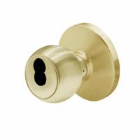 6K37E4DS3606 Best 6K Series Medium Duty Service station Cylindrical Knob Locks with Round Style in Satin Brass