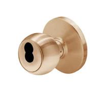 6K37E4DS3612 Best 6K Series Medium Duty Service station Cylindrical Knob Locks with Round Style in Satin Bronze