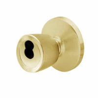 6K27E6DS3606 Best 6K Series Medium Duty Service station Cylindrical Knob Locks with Tulip Knob Style in Satin Brass