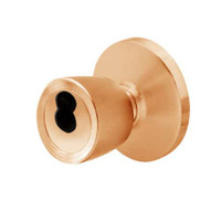 6K27E6DS3611 Best 6K Series Medium Duty Service station Cylindrical Knob Locks with Tulip Knob Style in Bright Bronze