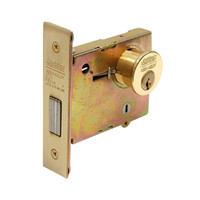 DL4111-605 Corbin DL4100 Series Mortise Deadlocks with Single Cylinder w/ Blank Plate in Bright Brass Finish