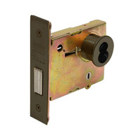 DL4111-613-CL6 Corbin DL4100 Series IC 6-Pin Less Core Mortise Deadlocks with Single Cylinder w/ Blank Plate in Oil Rubbed Bronze Finish