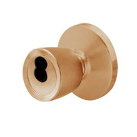 6K37E6DS3612 Best 6K Series Medium Duty Service station Cylindrical Knob Locks with Tulip Knob Style in Satin Bronze