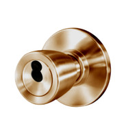 8K37W6AS3612 Best 8K Series Institutional Heavy Duty Cylindrical Knob Locks with Tulip Style in Satin Bronze