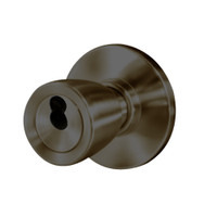 8K37W6AS3613 Best 8K Series Institutional Heavy Duty Cylindrical Knob Locks with Tulip Style in Oil Rubbed Bronze