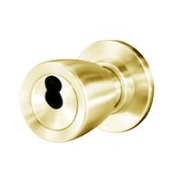 8K37W6CS3605 Best 8K Series Institutional Heavy Duty Cylindrical Knob Locks with Tulip Style in Bright Brass