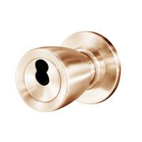 8K37W6CS3612 Best 8K Series Institutional Heavy Duty Cylindrical Knob Locks with Tulip Style in Satin Bronze