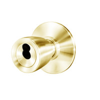 8K37W6DS3605 Best 8K Series Institutional Heavy Duty Cylindrical Knob Locks with Tulip Style in Bright Brass