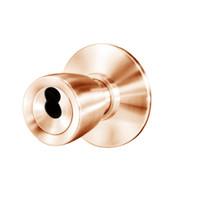 8K37W6DS3611 Best 8K Series Institutional Heavy Duty Cylindrical Knob Locks with Tulip Style in Bright Bronze