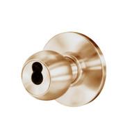 8K37W4AS3612 Best 8K Series Institutional Heavy Duty Cylindrical Knob Locks with Round Style in Satin Bronze