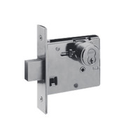48H7K626 Best 48H Series Single Cylinder with Thumbturn Mortise Deadlocks in Satin Chrome