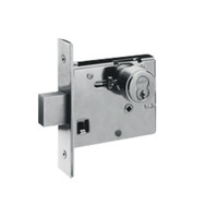 48H7K619 Best 48H Series Single Cylinder with Thumbturn Mortise Deadlocks in Satin Nickel