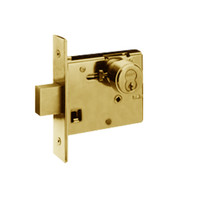 48H7R605-LH Best 48H Series Single Cylinder Classroom Mortise Deadlocks in Bright Brass