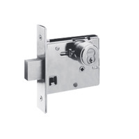 48H7R625-LH Best 48H Series Single Cylinder Classroom Mortise Deadlocks in Bright Chrome