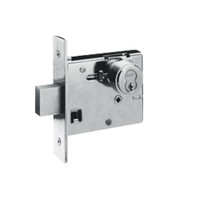 48H7M618 Best 48H Series Double Cylinder Mortise Deadlocks in Bright Nickel