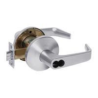 9KW37DEU15LSTK626RQE Best 9KW Series Fail Secure Electromechanical Heavy Duty Cylindrical Lock with Contour w/ Angle Return Style in Satin Chrome