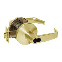 9KW37DEU15LSTK605RQE Best 9KW Series Fail Secure Electromechanical Heavy Duty Cylindrical Lock with Contour w/ Angle Return Style in Bright Brass