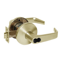 9KW37DEU15LSTK606RQE Best 9KW Series Fail Secure Electromechanical Heavy Duty Cylindrical Lock with Contour w/ Angle Return Style in Satin Brass
