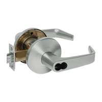 9KW37DEU15LS3619RQE Best 9KW Series Fail Secure Electromechanical Heavy Duty Cylindrical Lock with Contour w/ Angle Return Style in Satin Nickel